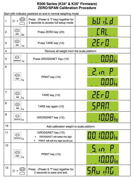 Scale Calibration Weights >> Training R320 and R323 using all firmware (K342, K344 ...